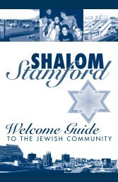 Shalom - Welcome Guide to the Jewish Community in Stamford ...