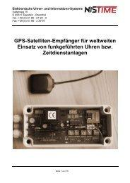 K-GPS/DCF - Bedienunsanleitung GPS Antenne - NIS time