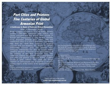 Port Cities and Printers conference program - Armenian Educational ...
