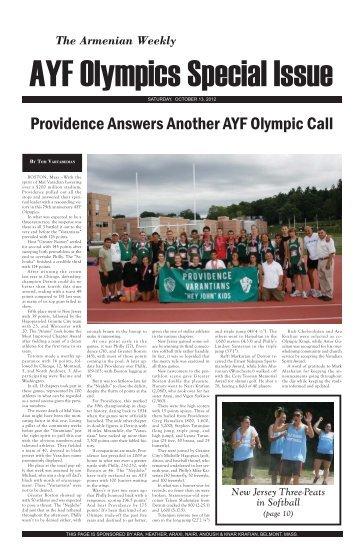 Armenian Weekly AYF Olympics Special Insert 2012