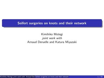 Seifert surgeries on knots and their network