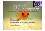Sanierungsstrategie der Berliner Wasserbetriebe
