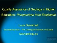 Quality Assurance for Geology in Higher Education - Euro-Ages