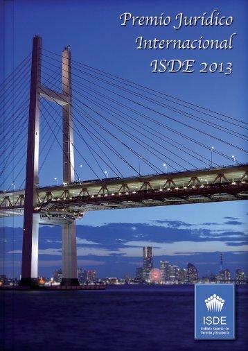 V Edición del Premio Jurídico Internacional ISDE 2013