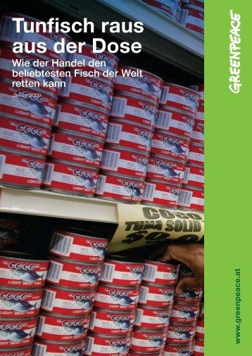 Tunfisch Händlerempfehlung, 2009 - Greenpeace