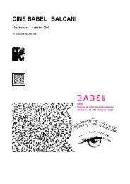 CINE BABEL BALCANI - Circolo del Cinema di Bellinzona