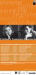 Cristina e Francesca Comencini - Circolo del Cinema di Bellinzona