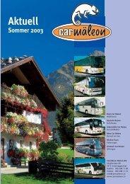 Aktuell Info Frühling Sommer 2003 (pdf) - Carmäleon Reisen AG