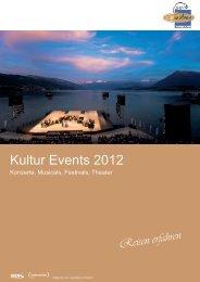Kultur Events 2012 - Carmäleon Reisen AG