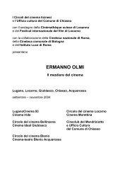 ERMANNO OLMI - Circolo del Cinema di Bellinzona
