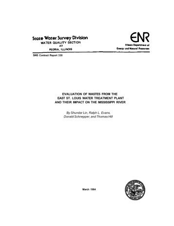 Evaluation of wastes from the East St. Louis water treatment plant ...