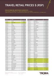 Preisliste TR-USD 1 - troika.org - TROIKA GERMANY GmbH