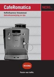 CafeRomatica Koffie/Espresso Volautomaat ... - Nivona