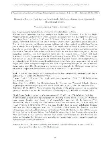 Beiträge zur Kenntnis  der Molluskenfauna Niederösterreichs