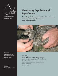 Monitoring Populations of Sage-Grouse. Proceedings of a ...