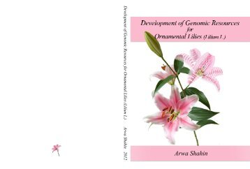 Development of Genomic Resources for Ornamental Lilies (Lilium L.)