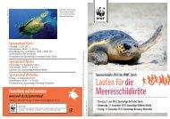 Flyer Sponsorenläufe 2012 - Naturschutz.ch