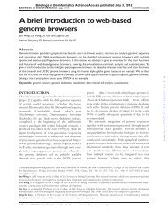 A brief introduction to web-based genome browsers - abc