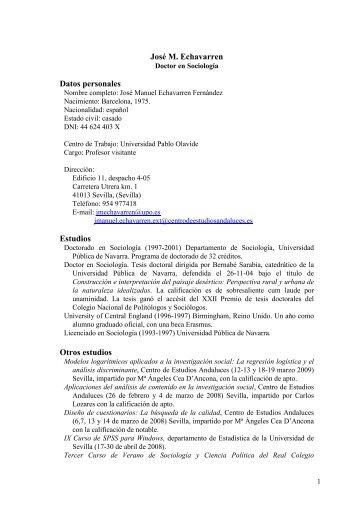 José M. Echavarren Datos personales Estudios Otros estudios