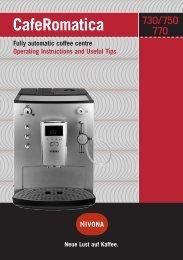 CafeRomatica Fully automatic coffee centre Operating ... - Nivona