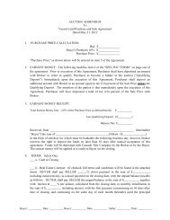 AUCTION ADDENDUM To Vacant Land Purchase and Sale ...