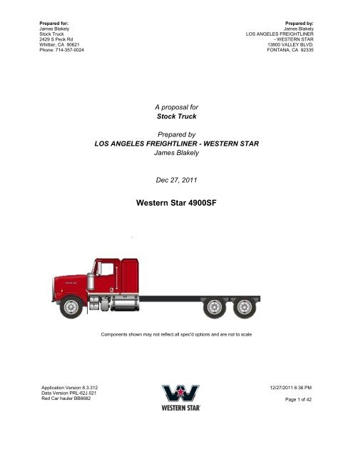 James Western Star >> Western Star 4900sf The Truck Paper