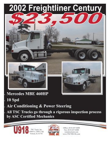 2002 Freightliner Century - The Truck Paper