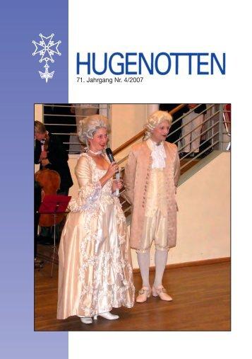 71. Jahrgang Nr. 4/2007 - Deutsche Hugenotten-Gesellschaft eV