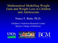 Mathematical modelling of weight gain and weight loss in ... - NIMBioS