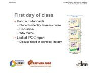 First day of class - The UTeach Institute