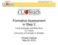 Schneider_Formative Assessment in Step 2 - The UTeach Institute