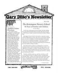 The Kensington Nursery School, 66 Years of ... - The Ditto Group