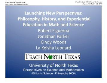 Launching New Perspec³ves - The UTeach Institute
