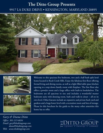Brochure - The Ditto Group