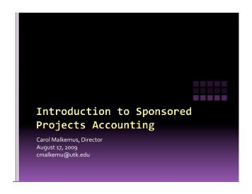 Sponsored Projects Accounting Information (PDF)