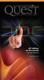 Annual Report for Fiscal Year 2010 (PDF) - Office of Research ...