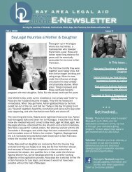 Partners in JusticE-News - Issue 2 - Bay Area Legal Aid