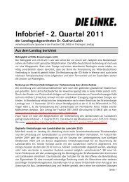 Infobrief - 2. Quartal 2011 - Dr. Gudrun Lukin