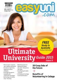 easyuni Ultimate University Guide 2015: Issue 6