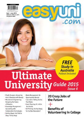 easyuni Ultimate University Guide 2015: Issue 6