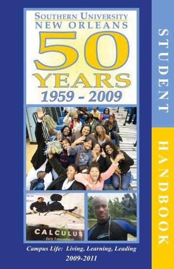 620347 SUNO HANDBOOK EDIT8 - Southern University New Orleans