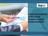 Travel Intermediaries in the United Kingdom to 2018: Market Databook
