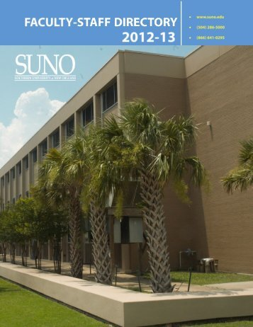 Alphabetical Directory (PDF) - Southern University New Orleans