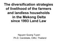 The diversification strategies of livelihood of the farmers and ... - RCSD