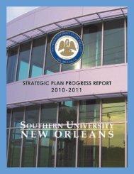 strategic plan progress report 2010-2011 - Southern University New ...