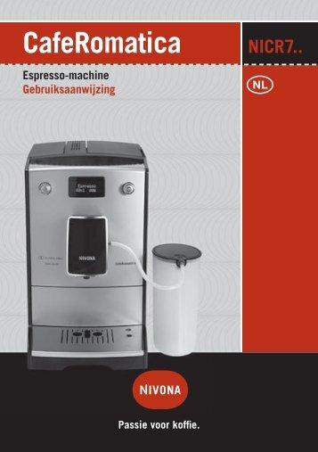 Gebruiksaanwijzing Espresso-machine - Nivona