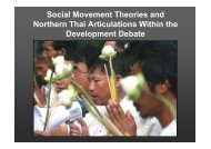 Social Movement Theories and Northern Thai Articulations ... - RCSD