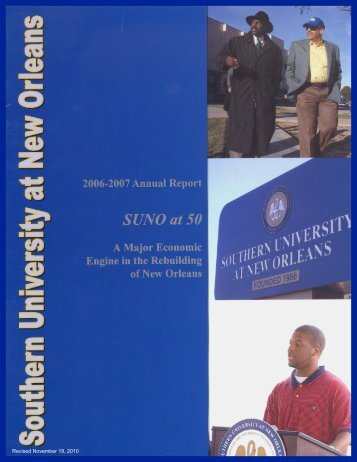 2006-2007 Annual Report - Southern University New Orleans