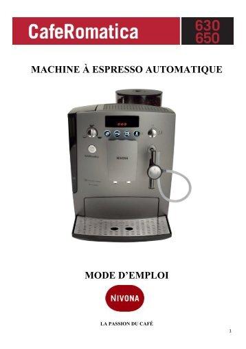 MACHINE À ESPRESSO AUTOMATIQUE MODE D'EMPLOI - Nivona
