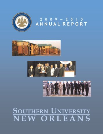 2009-10 Annual Report - Southern University New Orleans